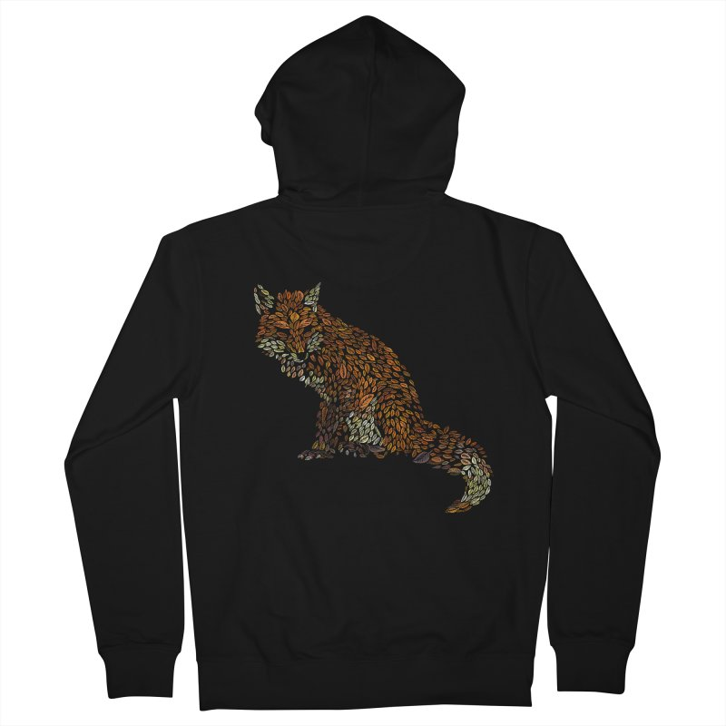 The Fox Leaves at Midnight Women's French Terry Zip-Up Hoody by Thomas Orrow