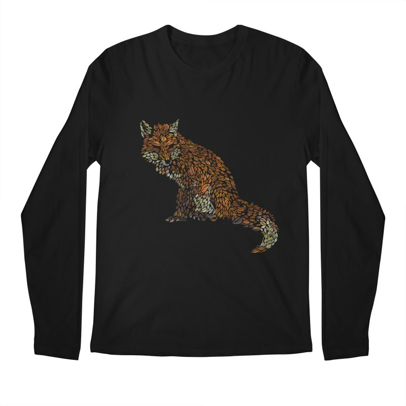 The Fox Leaves at Midnight Men's Regular Longsleeve T-Shirt by Thomas Orrow
