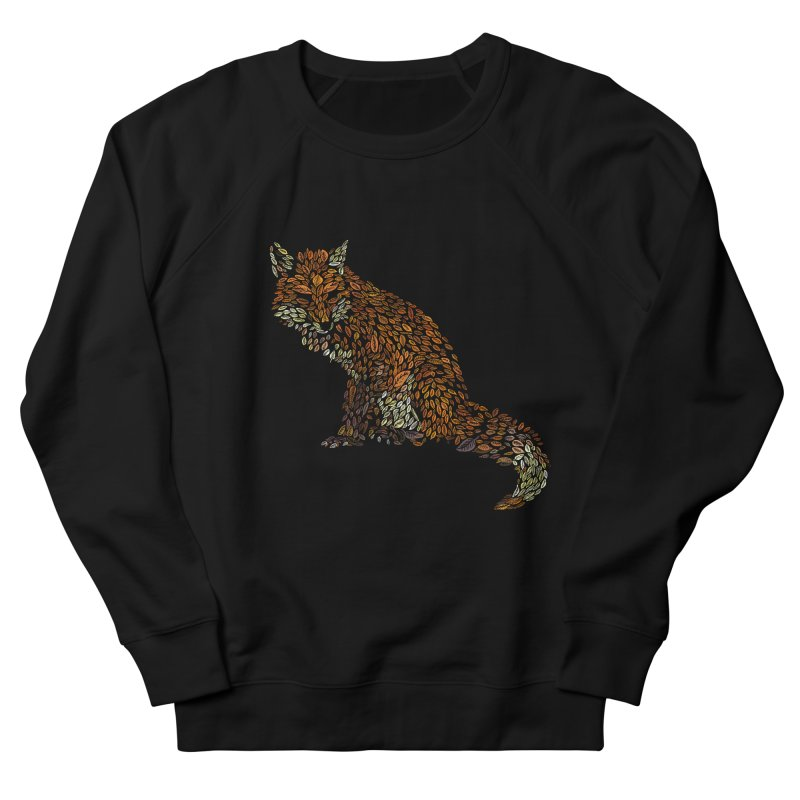 The Fox Leaves at Midnight Women's French Terry Sweatshirt by Thomas Orrow
