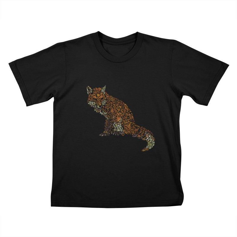 The Fox Leaves at Midnight Kids T-Shirt by Thomas Orrow
