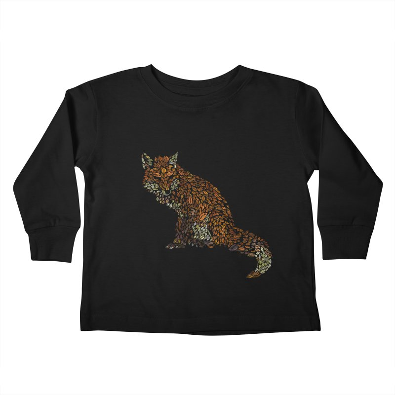 The Fox Leaves at Midnight Kids Toddler Longsleeve T-Shirt by Thomas Orrow