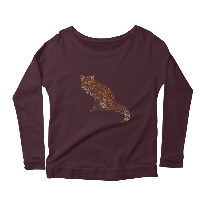 The Fox Leaves at Midnight Women's Scoop Neck Longsleeve T-Shirt by Thomas Orrow