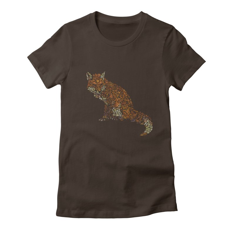 The Fox Leaves at Midnight Women's Fitted T-Shirt by Thomas Orrow