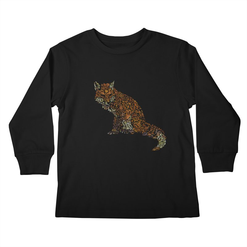 The Fox Leaves at Midnight Kids Longsleeve T-Shirt by Thomas Orrow