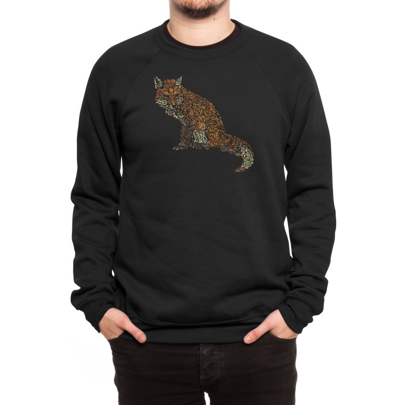 The Fox Leaves at Midnight Men's Sweatshirt by Thomas Orrow