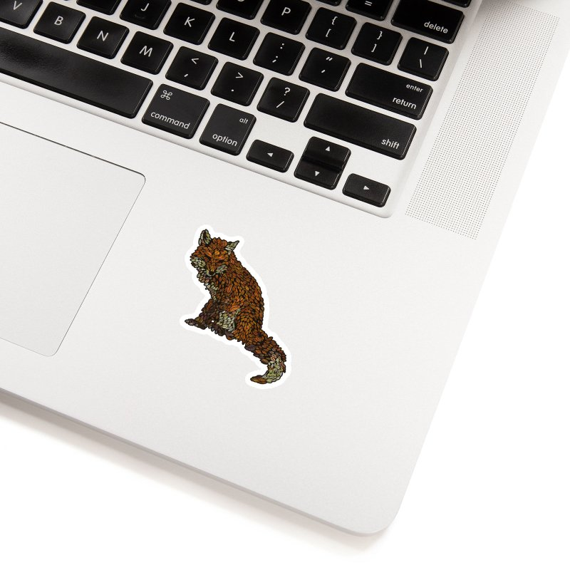 The Fox Leaves at Midnight Accessories Sticker by Thomas Orrow