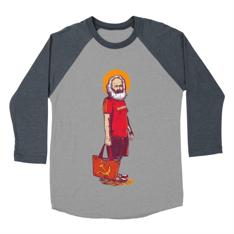 Karl Goes Shopping Men's Baseball Triblend Longsleeve T-Shirt by Thomas Orrow