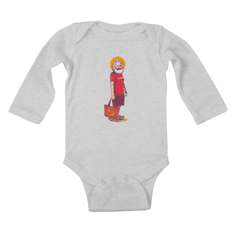 Karl Goes Shopping Kids Baby Longsleeve Bodysuit by Thomas Orrow