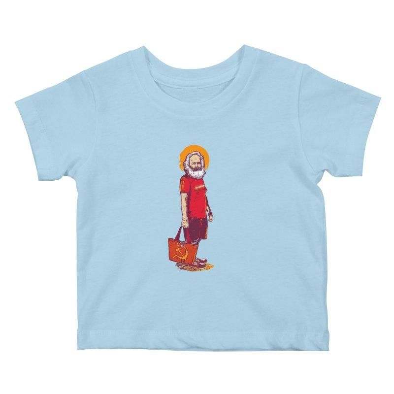 Karl Goes Shopping Kids Baby T-Shirt by Thomas Orrow