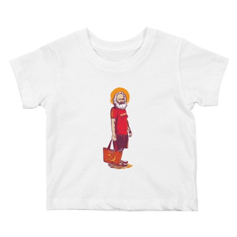 Karl Goes Shopping Kids Baby T-Shirt by Thomas Orrow