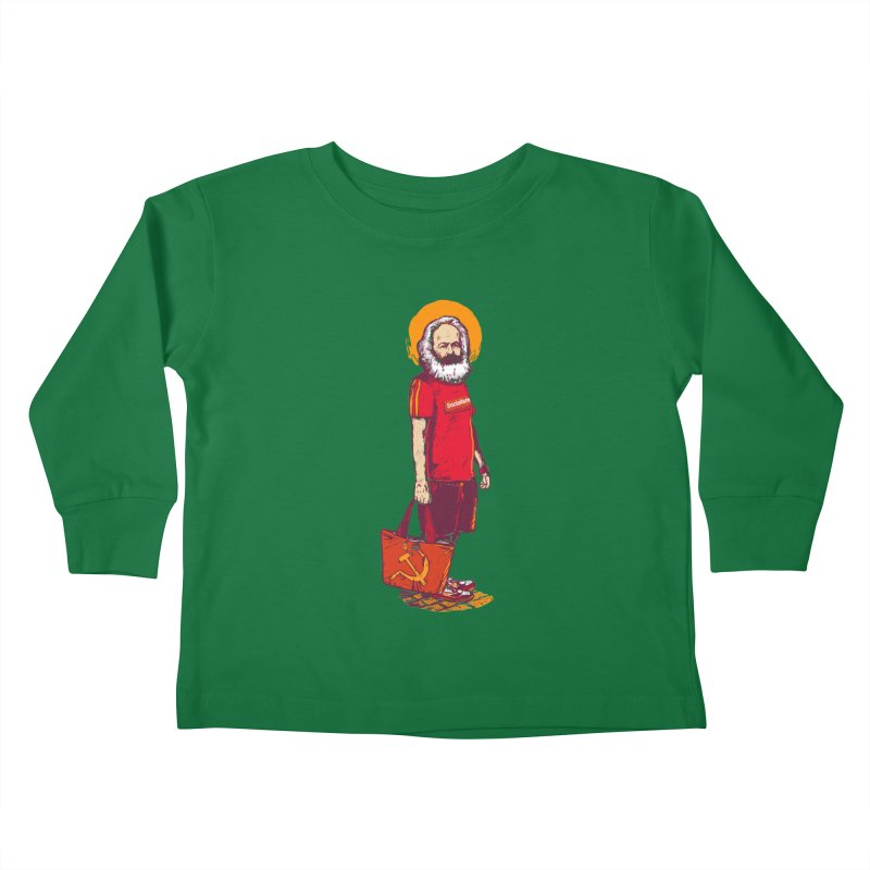 Karl Goes Shopping Kids Toddler Longsleeve T-Shirt by Thomas Orrow