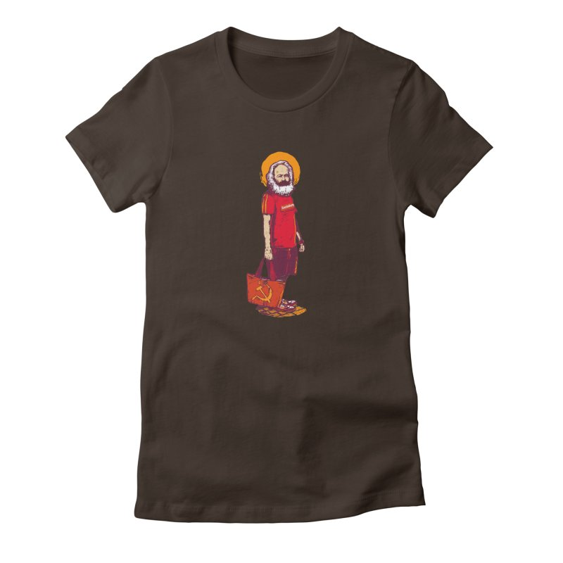 Karl Goes Shopping Women's Fitted T-Shirt by Thomas Orrow