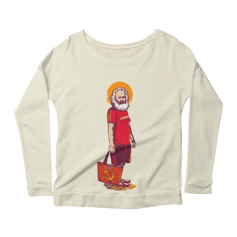 Karl Goes Shopping Women's Scoop Neck Longsleeve T-Shirt by Thomas Orrow