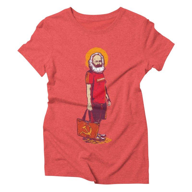 Karl Goes Shopping Women's Triblend T-Shirt by Thomas Orrow