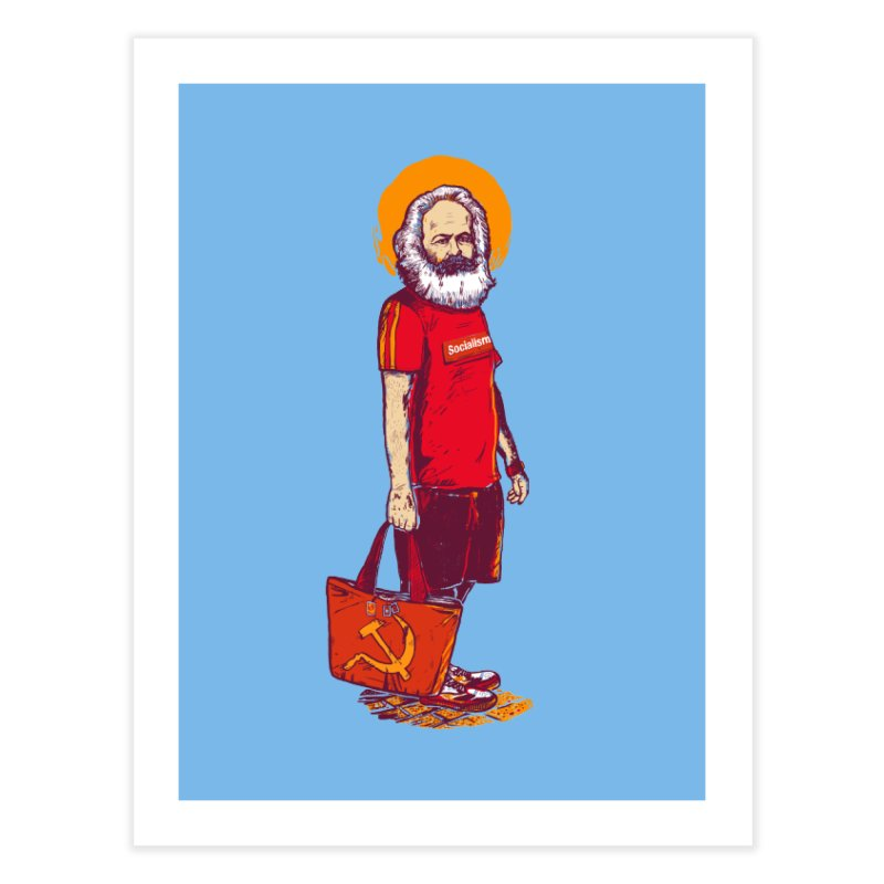 Karl Goes Shopping Home Fine Art Print by Thomas Orrow