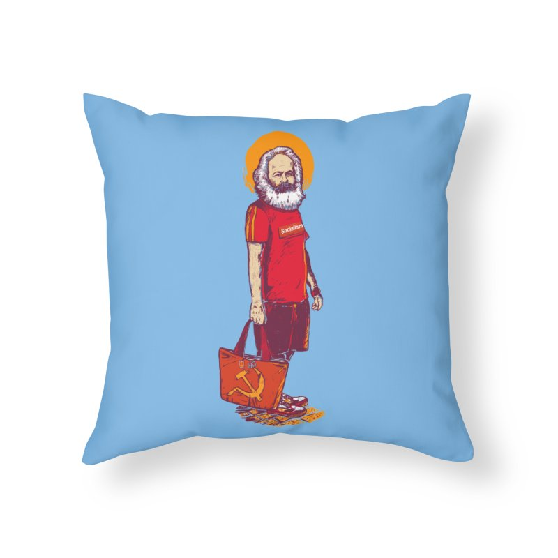 Karl Goes Shopping Home Throw Pillow by Thomas Orrow