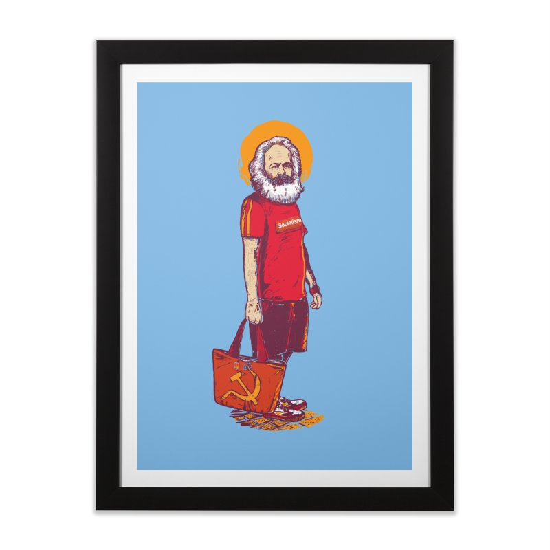 Karl Goes Shopping Home Framed Fine Art Print by Thomas Orrow