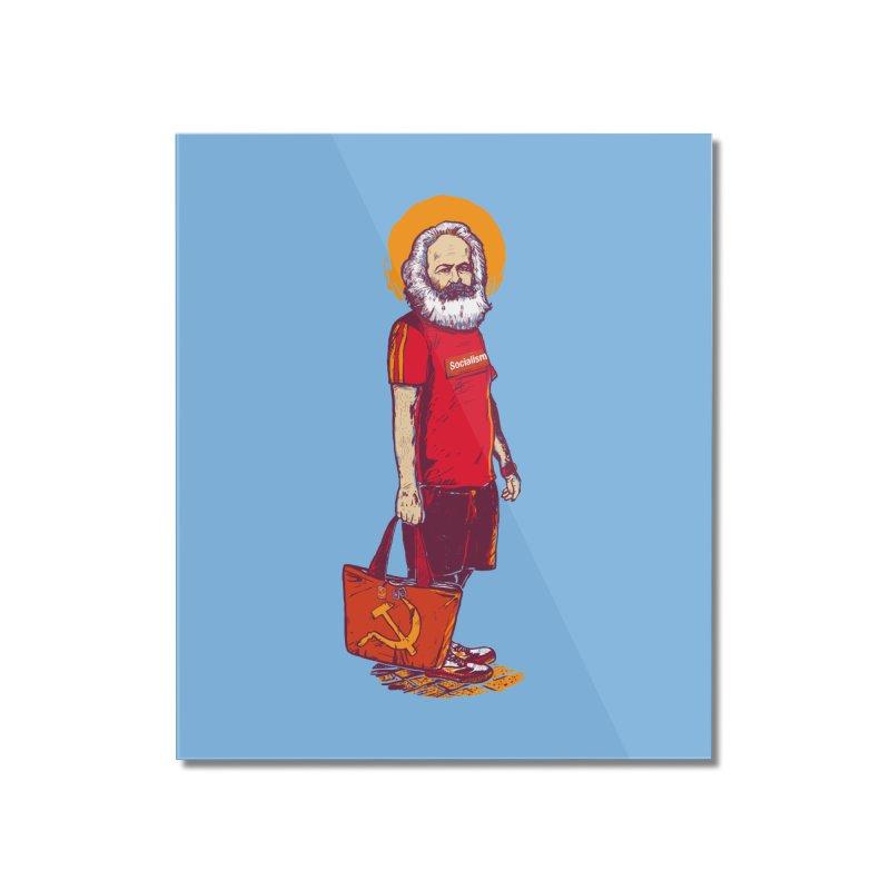 Karl Goes Shopping Home Mounted Acrylic Print by Thomas Orrow