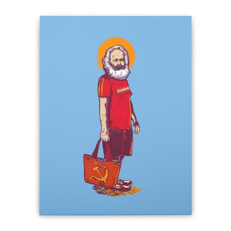 Karl Goes Shopping Home Stretched Canvas by Thomas Orrow