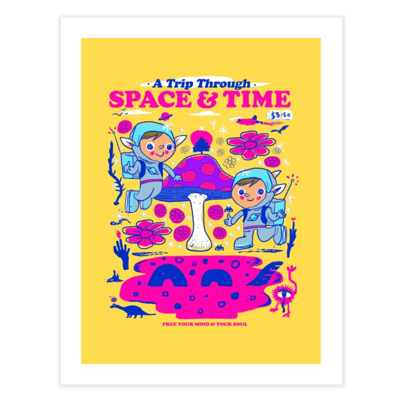 A Trip Through Space and Time Home Fine Art Print by Thomas Orrow