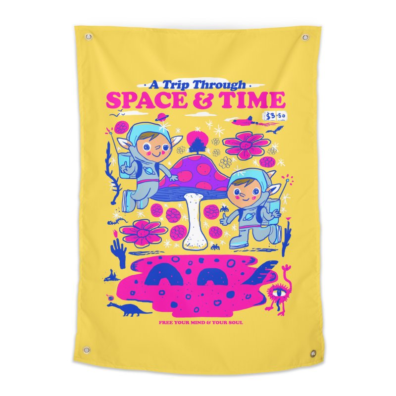 A Trip Through Space and Time Home Tapestry by Thomas Orrow
