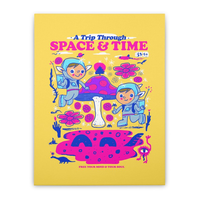 A Trip Through Space and Time Home Stretched Canvas by Thomas Orrow