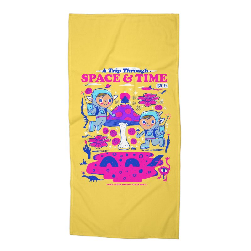 A Trip Through Space and Time Accessories Beach Towel by Thomas Orrow