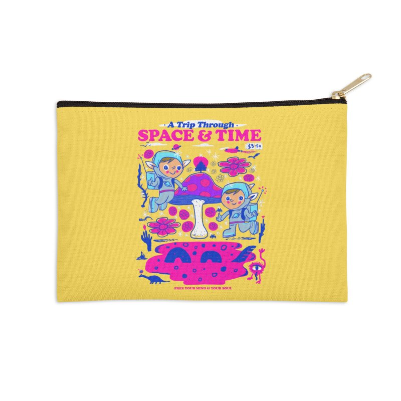 A Trip Through Space and Time Accessories Zip Pouch by Thomas Orrow