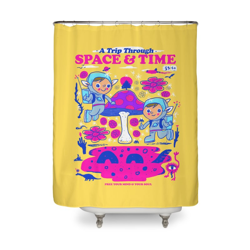 A Trip Through Space and Time Home Shower Curtain by Thomas Orrow