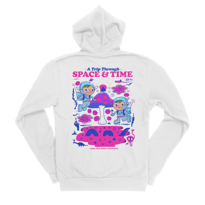 A Trip Through Space and Time Men's Sponge Fleece Zip-Up Hoody by Thomas Orrow