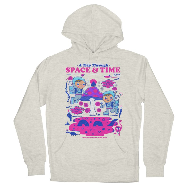 A Trip Through Space and Time Men's French Terry Pullover Hoody by Thomas Orrow