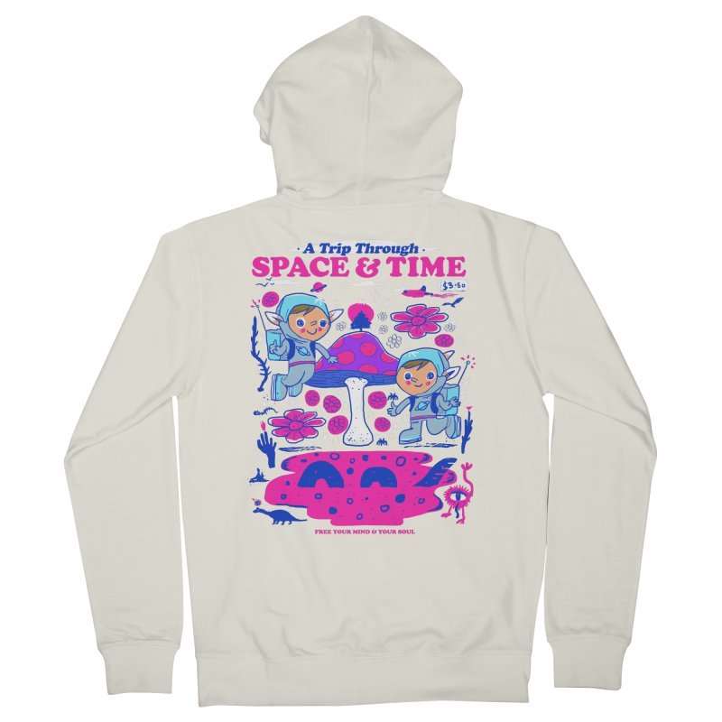 A Trip Through Space and Time Women's French Terry Zip-Up Hoody by Thomas Orrow