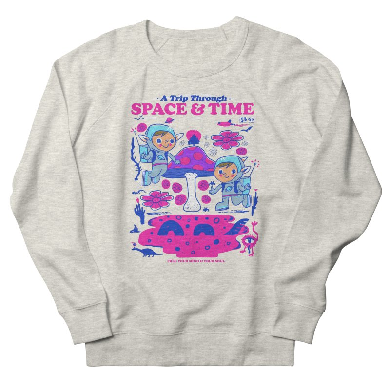 A Trip Through Space and Time Men's French Terry Sweatshirt by Thomas Orrow