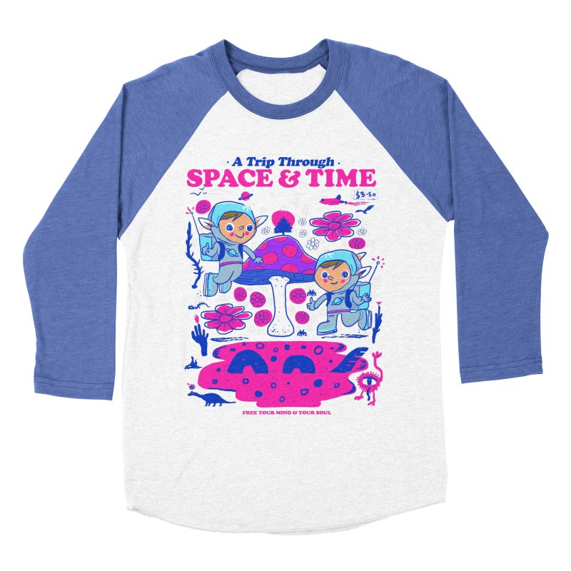 A Trip Through Space and Time Men's Baseball Triblend Longsleeve T-Shirt by Thomas Orrow