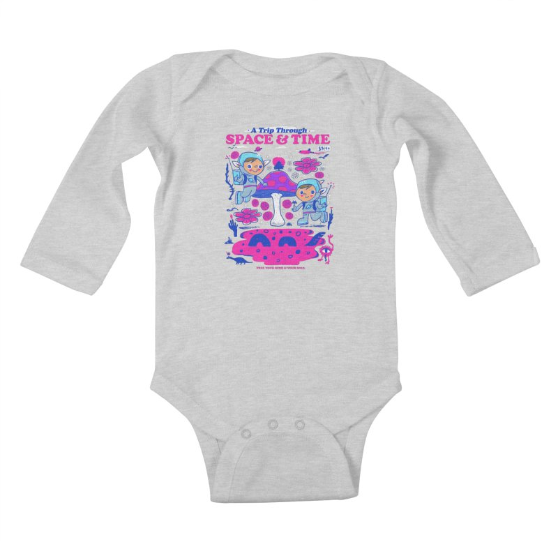 A Trip Through Space and Time Kids Baby Longsleeve Bodysuit by Thomas Orrow