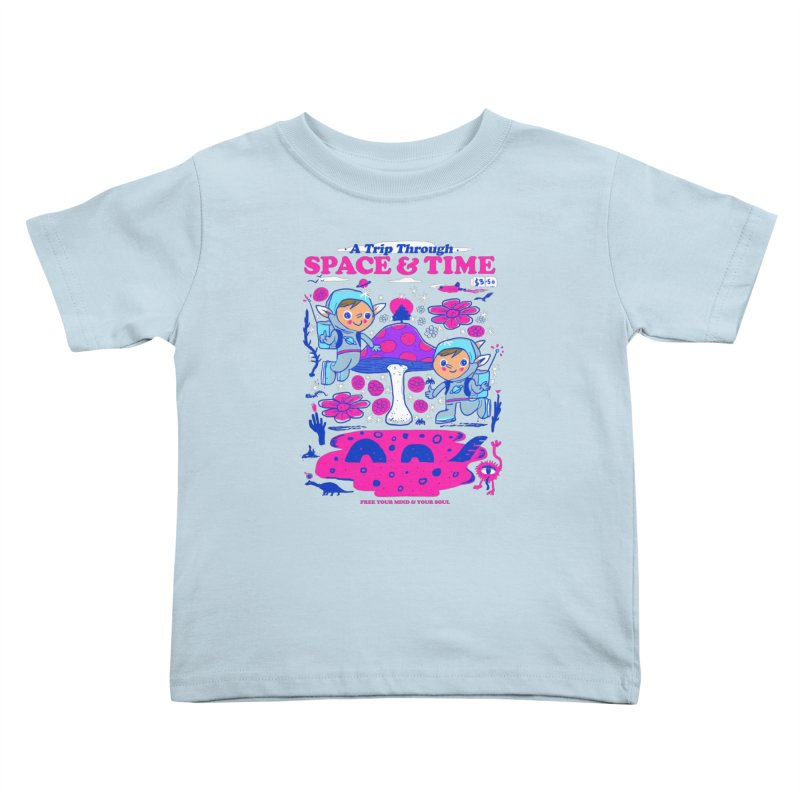 A Trip Through Space and Time Kids Toddler T-Shirt by Thomas Orrow