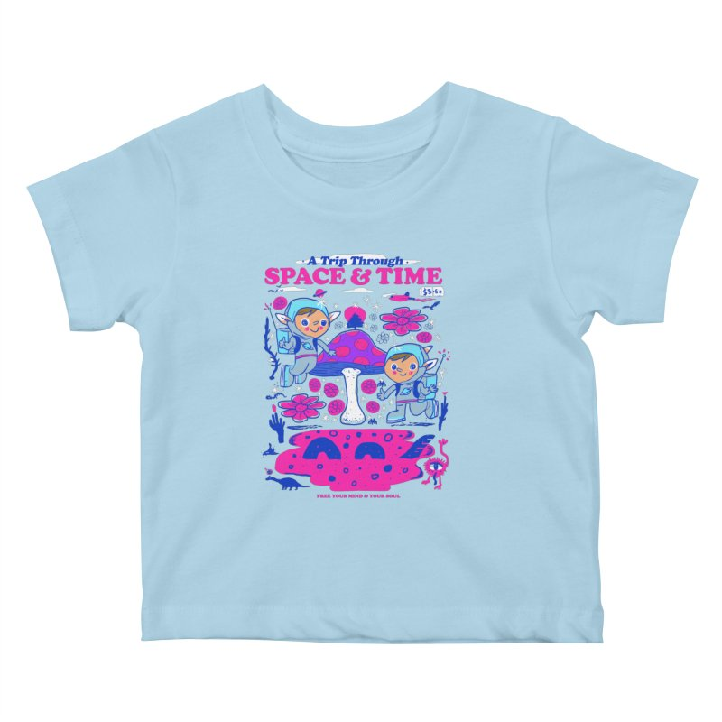 A Trip Through Space and Time Kids Baby T-Shirt by Thomas Orrow
