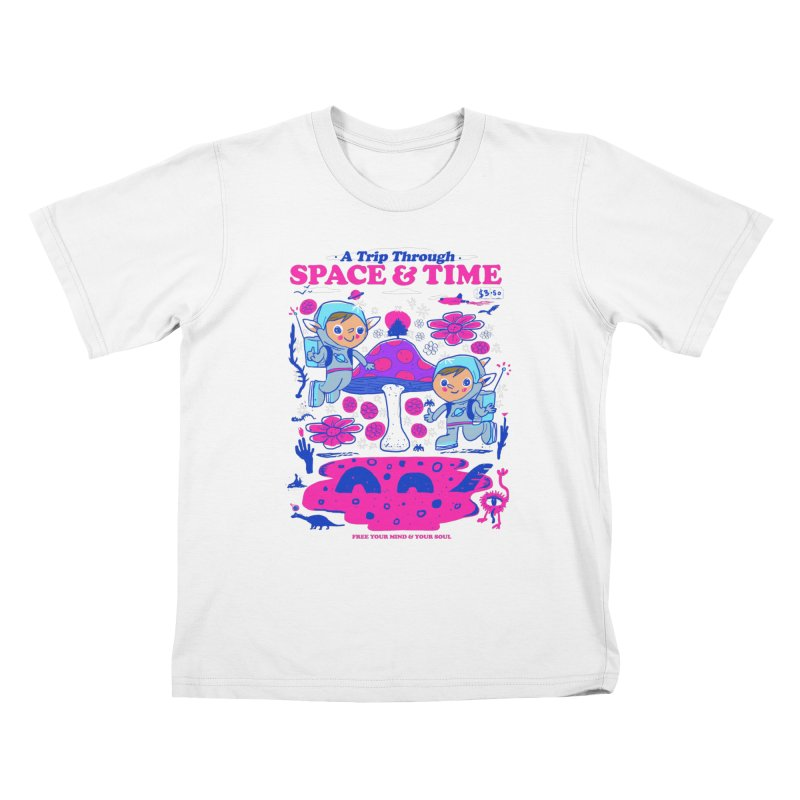 A Trip Through Space and Time Kids T-Shirt by Thomas Orrow