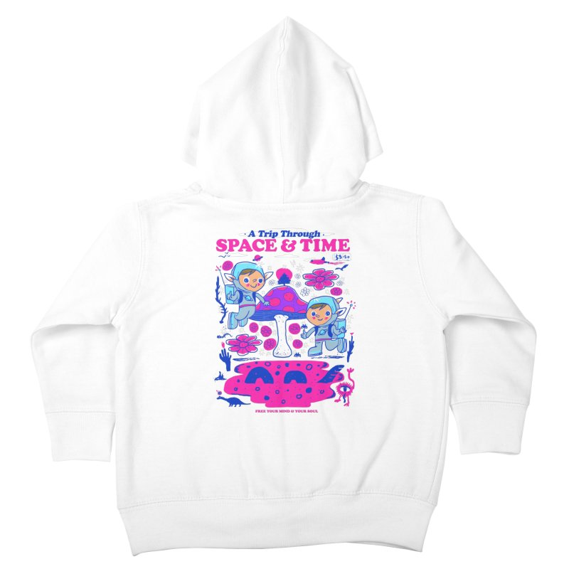 A Trip Through Space and Time Kids Toddler Zip-Up Hoody by Thomas Orrow