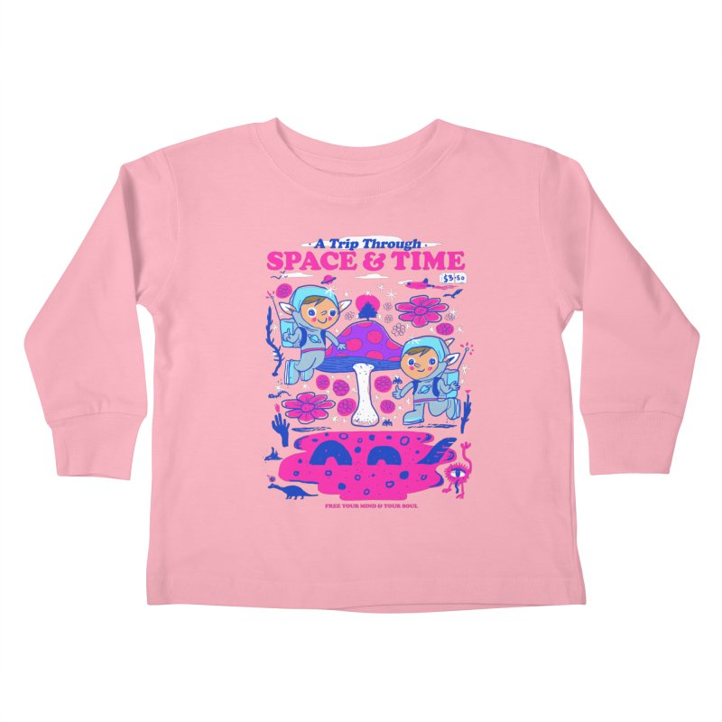 A Trip Through Space and Time Kids Toddler Longsleeve T-Shirt by Thomas Orrow