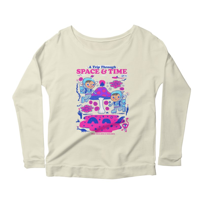 A Trip Through Space and Time Women's Scoop Neck Longsleeve T-Shirt by Thomas Orrow