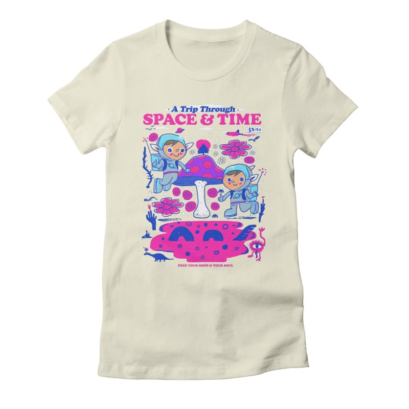 A Trip Through Space and Time Women's Fitted T-Shirt by Thomas Orrow