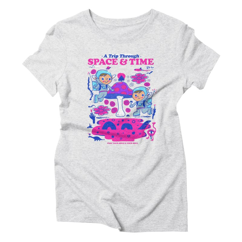 A Trip Through Space and Time Women's Triblend T-Shirt by Thomas Orrow