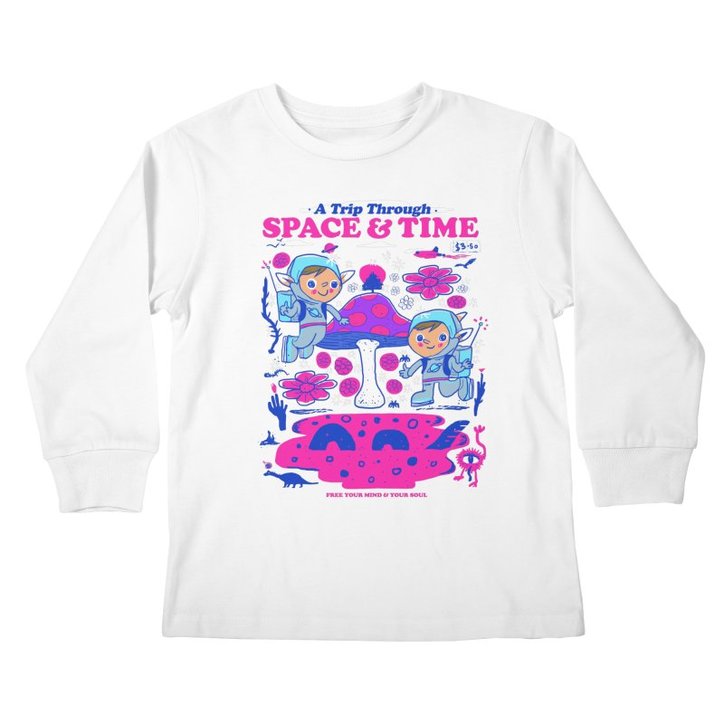 A Trip Through Space and Time Kids Longsleeve T-Shirt by Thomas Orrow