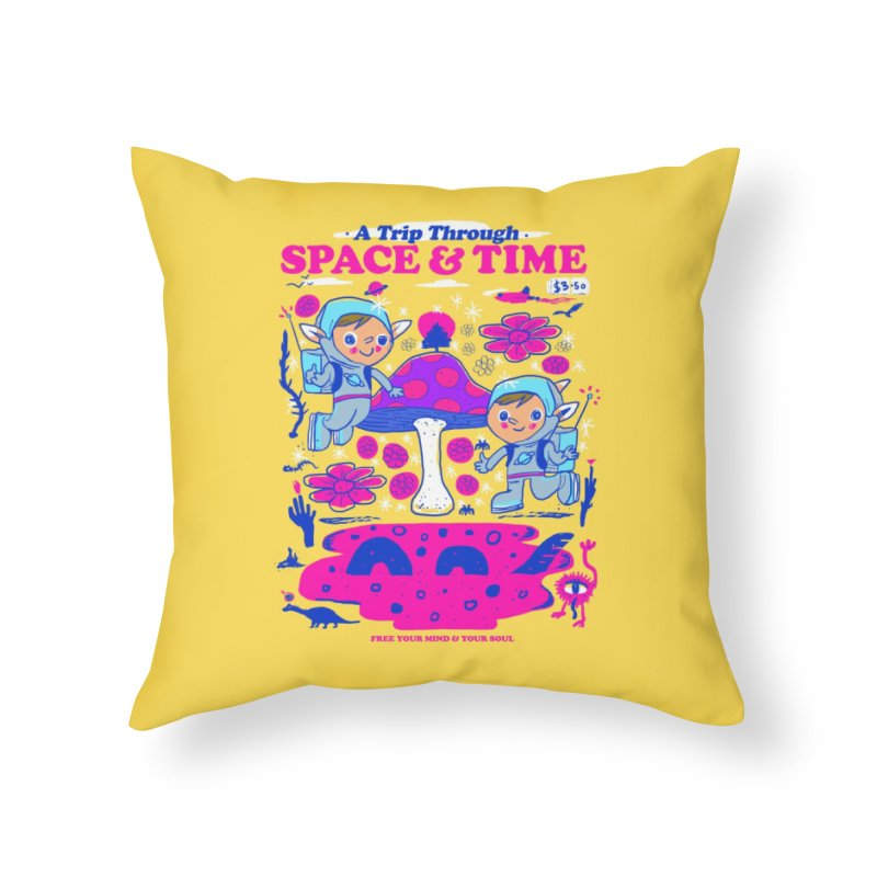 A Trip Through Space and Time Home Throw Pillow by Thomas Orrow