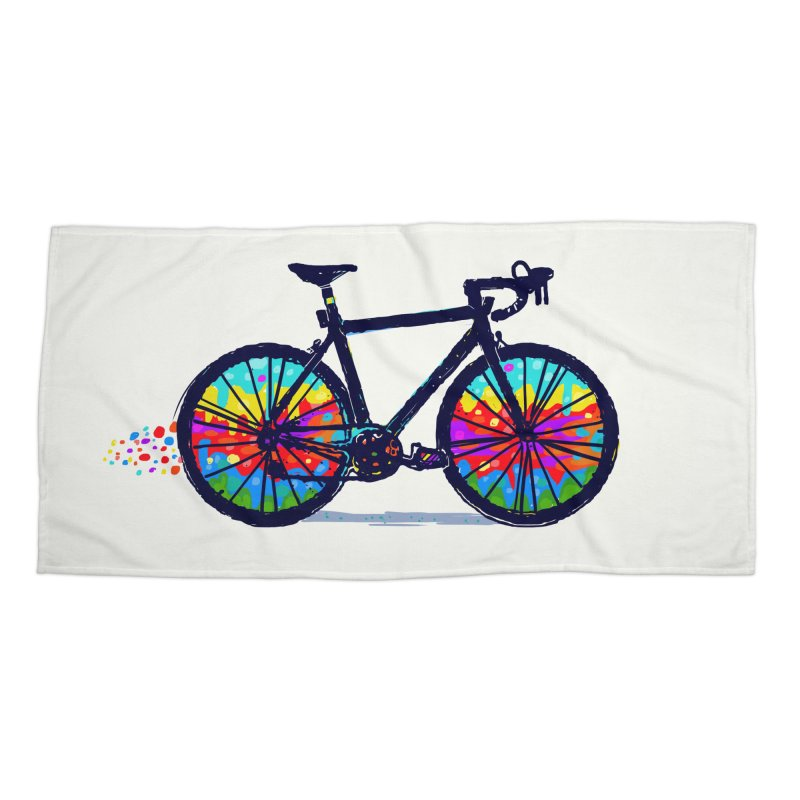 Psychedebicycle Accessories Beach Towel by Thomas Orrow