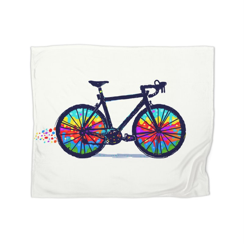 Psychedebicycle Home Blanket by Thomas Orrow