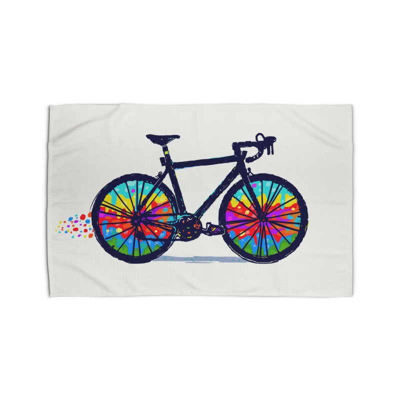 Psychedebicycle Home Rug by Thomas Orrow