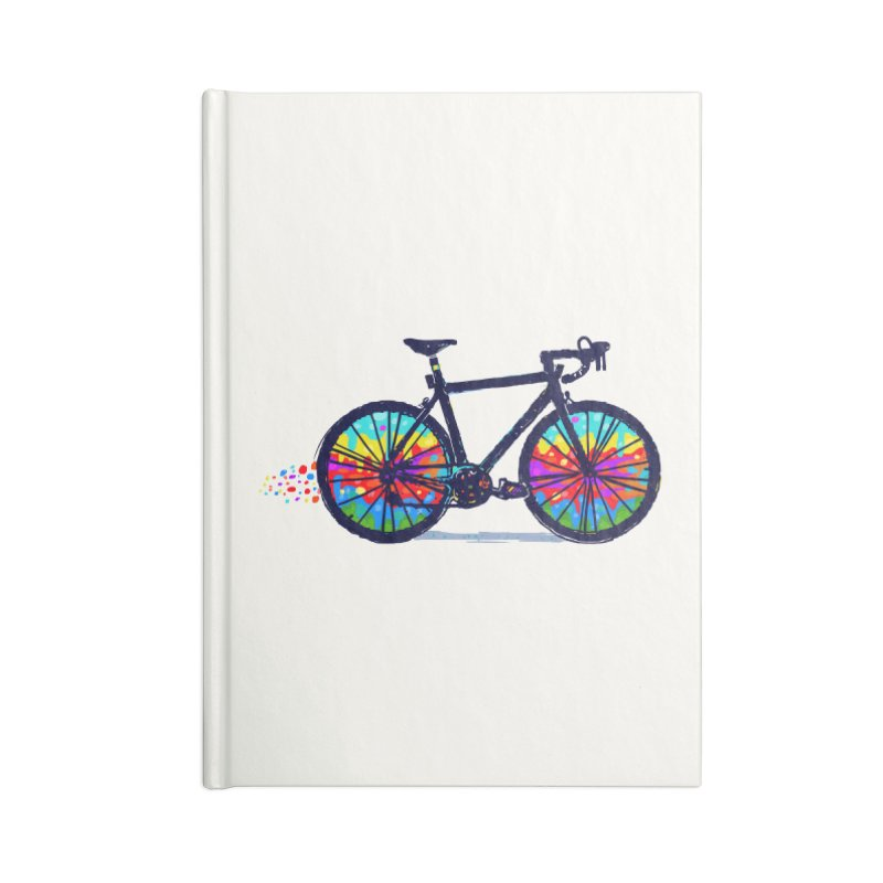 Psychedebicycle Accessories Notebook by Thomas Orrow