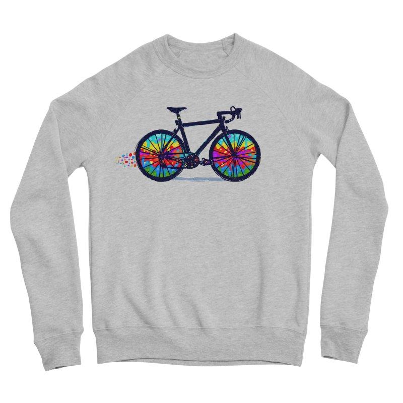 Psychedebicycle Women's Sponge Fleece Sweatshirt by Thomas Orrow